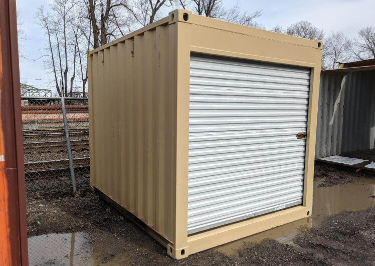 10ft shipping container with roll up door
