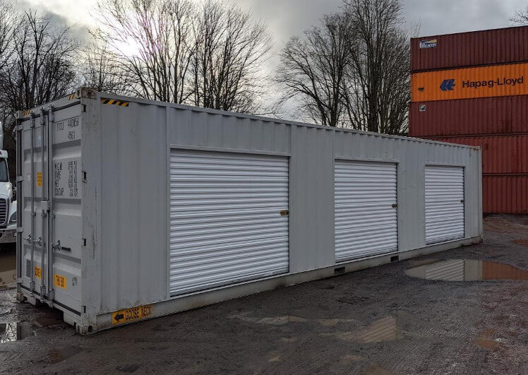 shipping container with roll p doors for sale